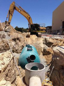 Groundforce Civil Excavation and Filtration Tank install.