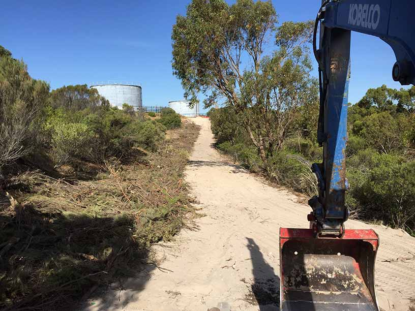 Groundforce Civil fire break preparation