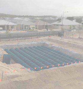 Groundforce Civil Water Retention Tanks installation
