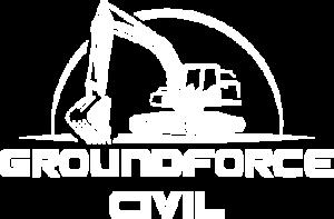 Groundforce Civil logo white web