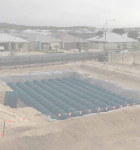 Groundforce Civil Water Retention Tanks installation